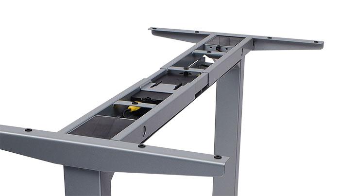 Höhenverstellbares Tischgestell mit Kabelwanne